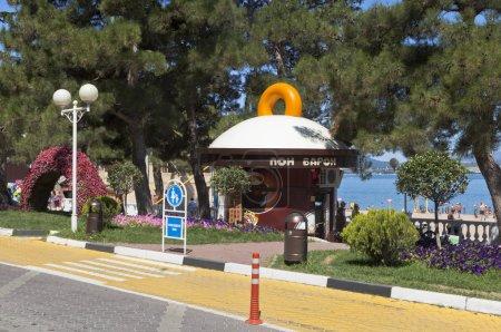 """Donut shop """"Baron Pont"""" on the waterfront resort Gelendzhik, Krasnodar region, Russia"""