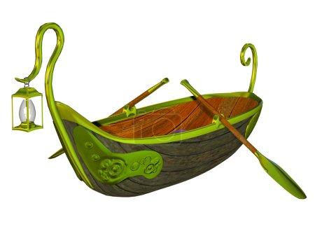 Fantasy fairy tale boat