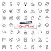 -Ručně tažené Internet ikony