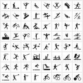 Large set of vector sports symbols including all the major winter and summer sports File format is EPS8