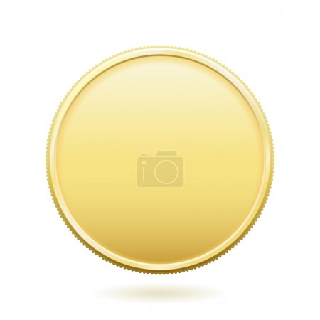 Illustration pour Pièce d'or vierge avec place pour le texte. Le format de fichier est EPS8 . - image libre de droit