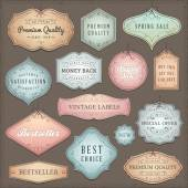 Collection of worn vintage vector labels