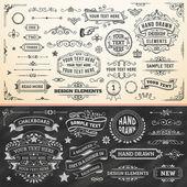 Elementi di design disegnati a mano