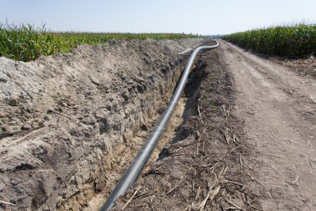 pipes and channels of irrigation systems