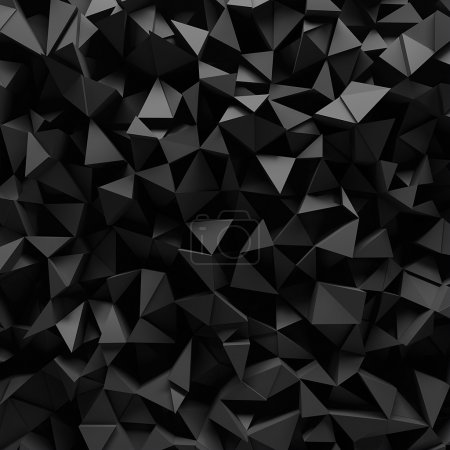 Photo for Displaced 3d triangular background - Royalty Free Image