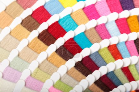 Photo for Yarn thread sample color card - Royalty Free Image