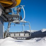 Chair lift at ski resort...