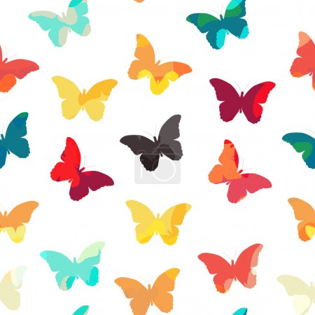 Butterfly Seamless Simple Pattern Background Vecto...