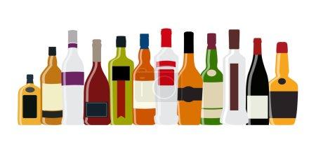 Illustration pour Illustration vectorielle de la bouteille d'alcool de silhouette EPS10 - image libre de droit
