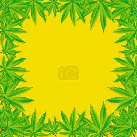 Abstract Cannabis Background Vector Illustration