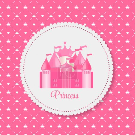 Princess  Background with Castle Vector Illustration