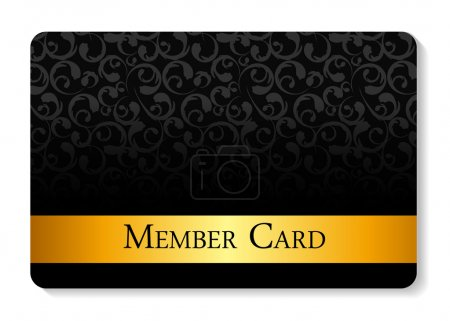 Photo for VIP Members Card Vector Illustration EPS10 - Royalty Free Image
