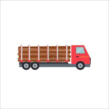 Ftat Truck Vector Illustration