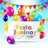 Festa Junina pozadí vektorové ilustrace