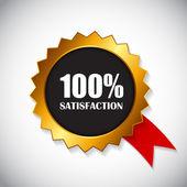 Golden Label spokojenosti vektorové ilustrace