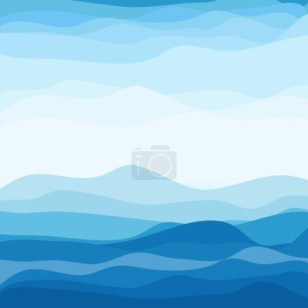 Illustration pour Résumé Blue Wave Background. Illustration vectorielle. PSE10 - image libre de droit
