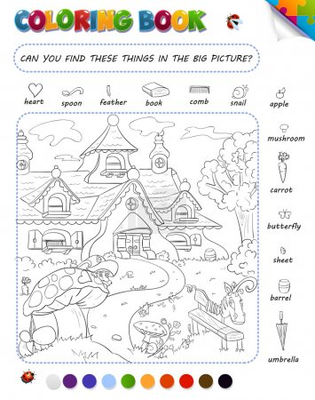 Coloring book game for kids