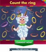 Visual Game for children Task: count the rings