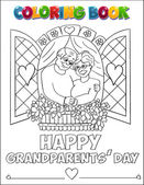 Coloring book Grandparents Day