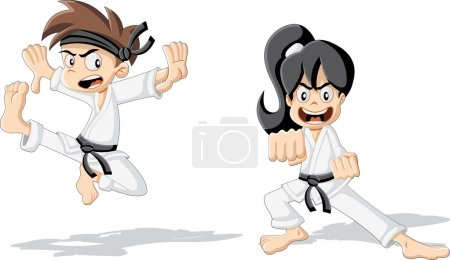 Cartoon karate kids