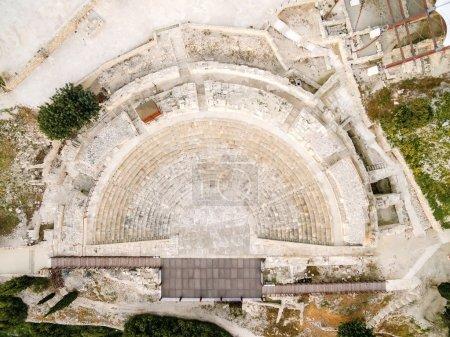Vista aérea del antiguo teatro de Kourion