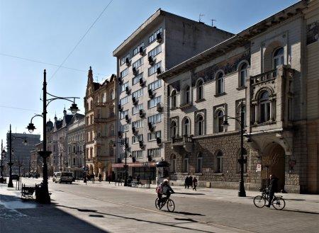 Historic houses Piotrowska Street.