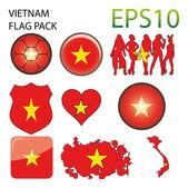 Vietnam Flag Map Pack