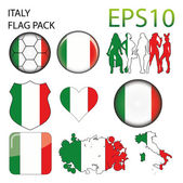 Italy Flag Map Pack