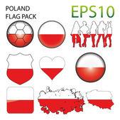 Poland Flag Map Pack