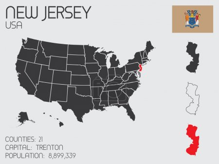 Set of Infographic Elements for the State of New Jersey