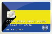 Illustration of a Credit Card with the Card being the flag of  B