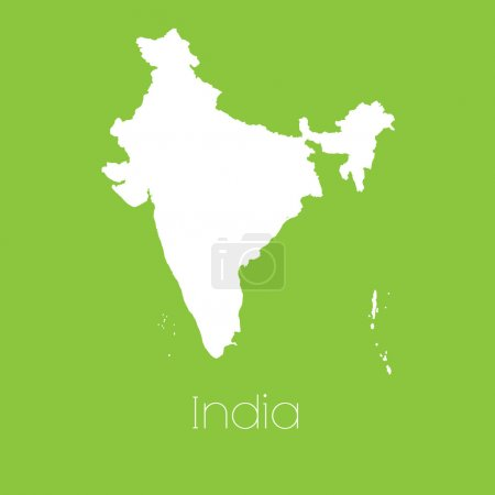 Map of the country of India