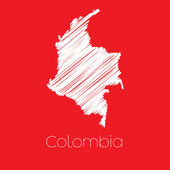 A Map of the country of Colombia