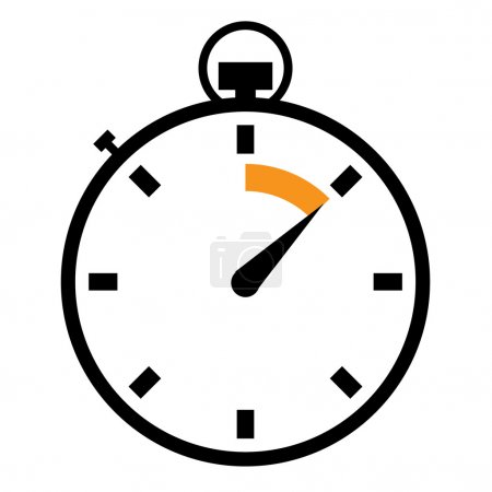 Illustration for Illustrated stopwatch icons set - Royalty Free Image