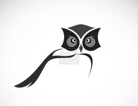 Illustration pour Image vectorielle d'un dessin de hibou sur fond blanc - image libre de droit