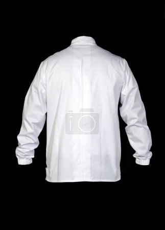 Rear view from a white silk shirt