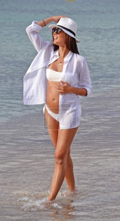 Outdoor pregnant latin woman