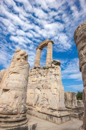 Ruins the ancient Temple of Apollo in Didim, Turke...