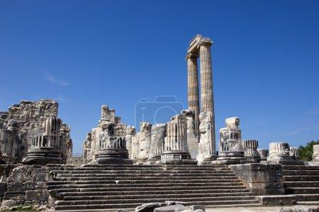 General view of the Temple of Apollo in Didim, Tur...
