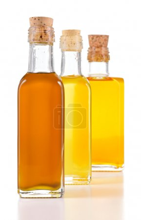 Healthy oils with unsaturated fats isolated.