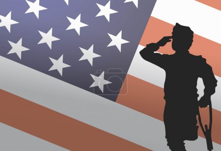 Illustration for Usa Veterans Day, November 11th. Real heroes. Honoring all who served - Royalty Free Image
