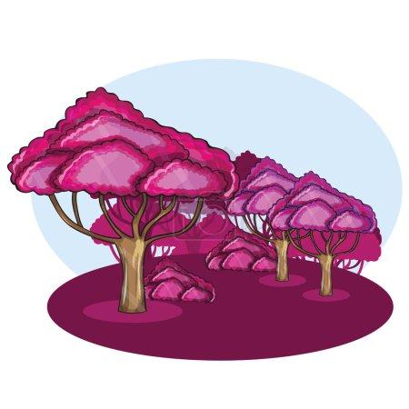 Pink Wood against a cloud