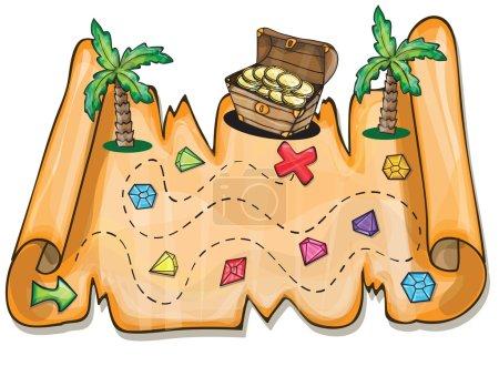 Pirate treasure chest - Vector illustration