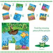 Pezzo mancante di trovare - gioco di Puzzle per bambini