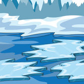 Iceland - Vector Illustration