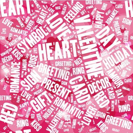 Illustration pour Fond de lettres modernes de Valentin - image libre de droit