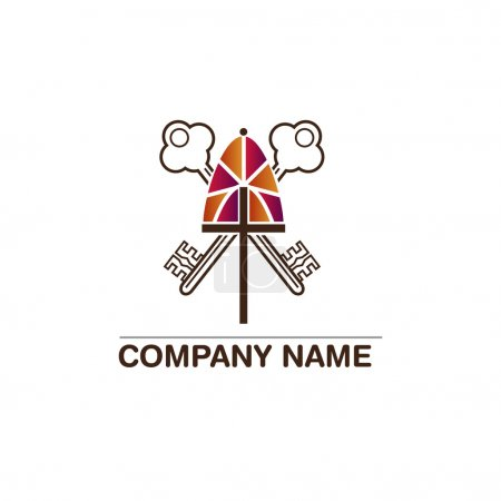 Template logo for churches and Christian organizations cross on the windows