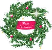 Vánoční věnec s pozdravem