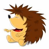 Unusual cartoon hedgehog