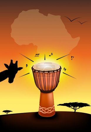 African drum illustration